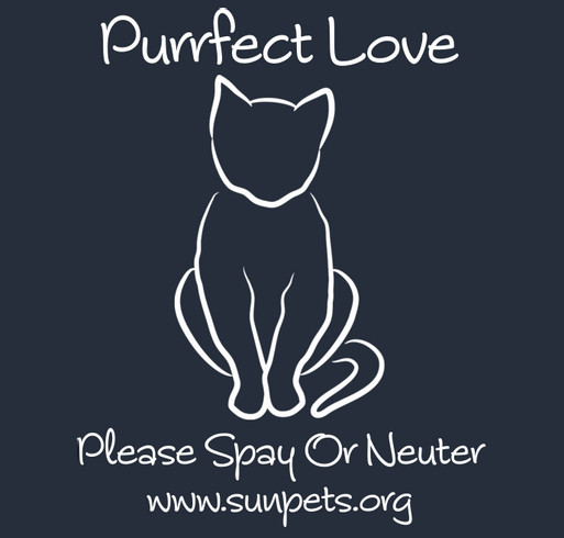 """Purrfect Love"" T-Shirt Fundraiser shirt design - zoomed"