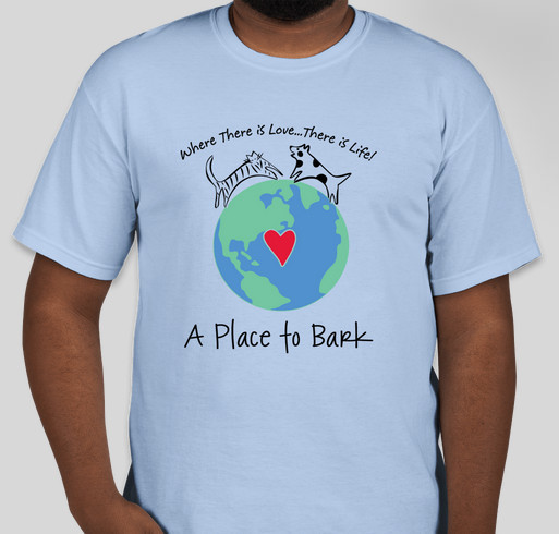 A Place To Bark - July 2015 Fundraiser - unisex shirt design - front