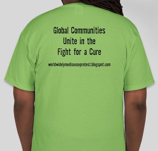 Worldwide Lyme Awareness Protest 2014 Fundraiser - unisex shirt design - back