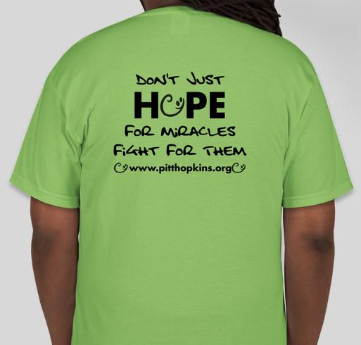Pitt Hopkins Syndrome Awareness Day Fundraiser Fundraiser - unisex shirt design - back