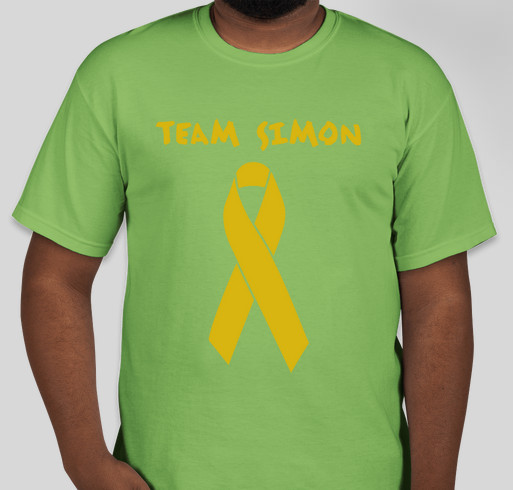 Alex's Lemonade Stand Foundation, Million Mile Walk, Run, Bike. Team Simon Fundraiser - unisex shirt design - front