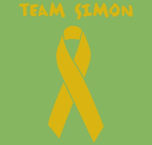 Alex's Lemonade Stand Foundation, Million Mile Walk, Run, Bike. Team Simon shirt design - zoomed