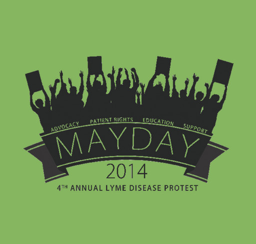 The Mayday Project shirt design - zoomed
