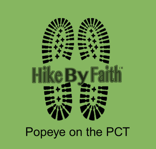 Project Popeye on the PCT shirt design - zoomed