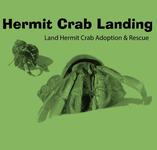 Hermit Crab Landing Adoption & Rescue, MI shirt design - zoomed