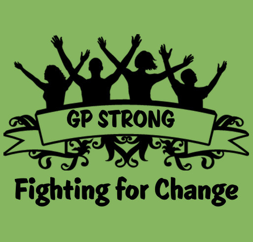 Gastroparesis Research Fundraiser shirt design - zoomed