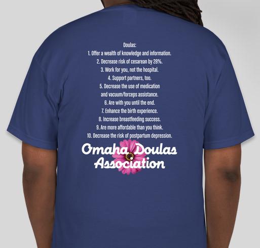 Omaha Doulas Association World Doula Week Fundraiser - unisex shirt design - back