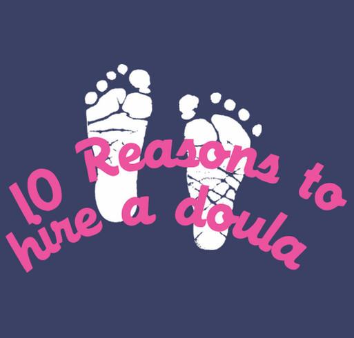 Omaha Doulas Association World Doula Week shirt design - zoomed