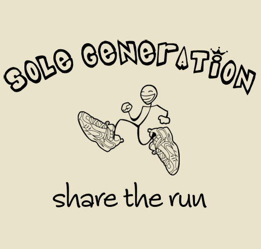 Sole Generation - Sharing the Run with Colombian Youth shirt design - zoomed