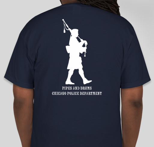 CPD Pipes and Drums Fundraiser Fundraiser - unisex shirt design - back
