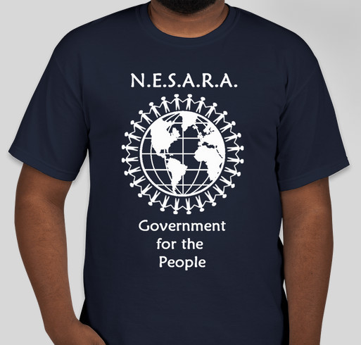 Enact NESARA Now Apparel Fundraiser - unisex shirt design - front