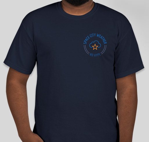 Space City Weather t-shirt drive Fundraiser - unisex shirt design - front