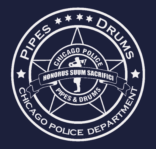 CPD Pipes and Drums Fundraiser shirt design - zoomed