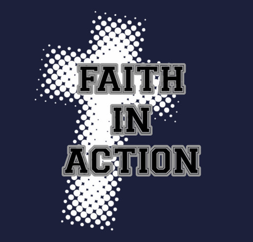 Faith in Action Womens Ministry shirt design - zoomed
