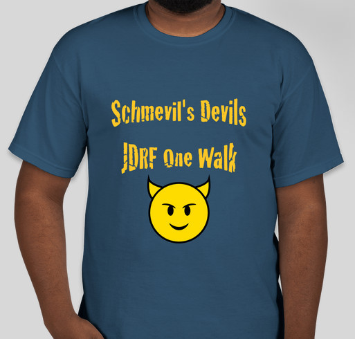 Team schmevil 39 s devils custom ink fundraising for Jdrf one walk t shirts