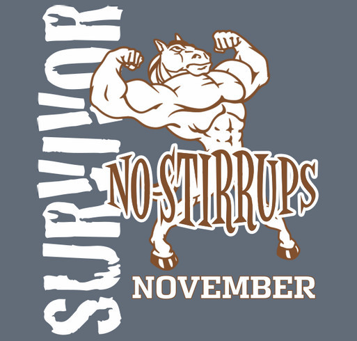 NO STIRRUPS NOVEMBER! shirt design - zoomed
