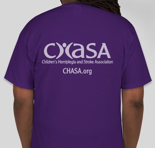 I *heart* a pediatric stroke survivor (Right Hemi) Fundraiser - unisex shirt design - back