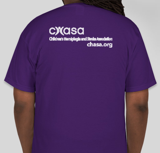 We need to chat! Kids have strokes too Fundraiser - unisex shirt design - back