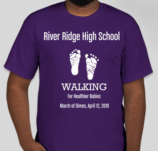 River Ridge March of Dimes Team Fundraiser - unisex shirt design - front