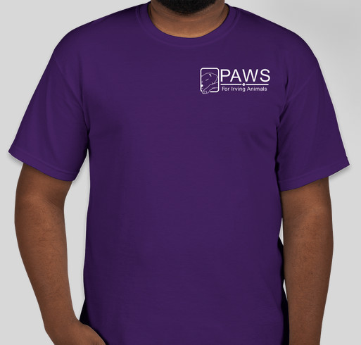 Paws for irving animals t shirt fundraiser custom ink for T shirt printing for non profit organizations