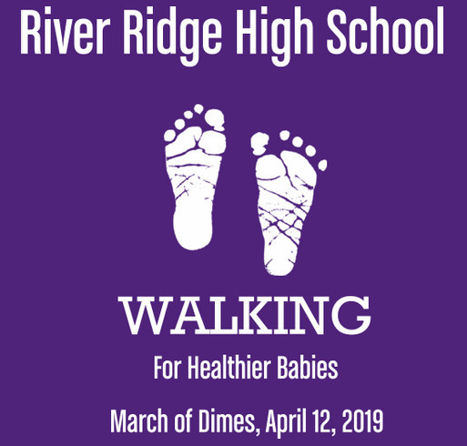River Ridge March of Dimes Team shirt design - zoomed