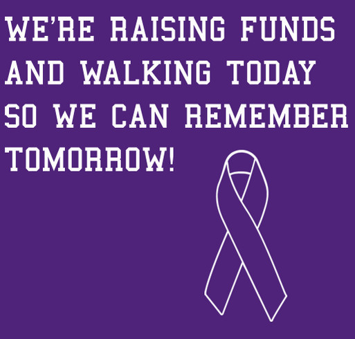 Walk to end alzheimer's 2014 shirt design - zoomed - front