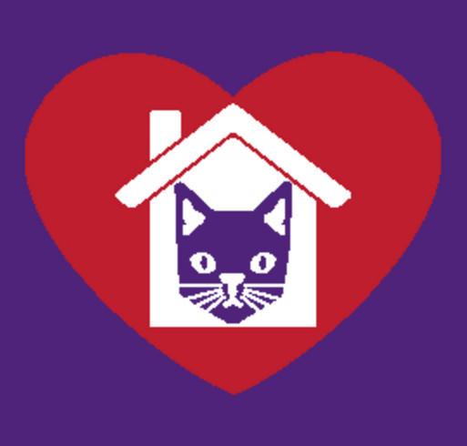 "House of Dreams' ""I Heart My House Cat"" T-shirt campaign shirt design - zoomed"