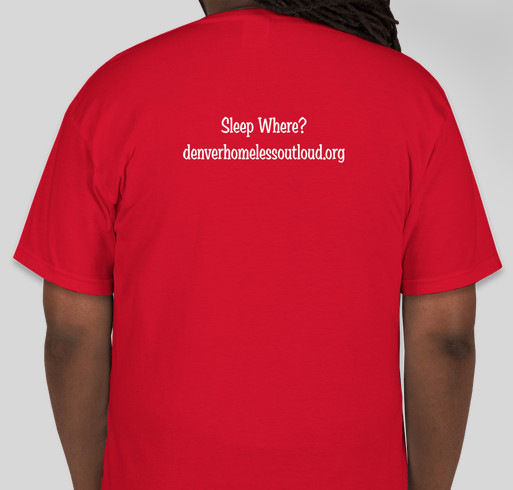 Sleep Where? Decriminalize Homelessness Fundraiser - unisex shirt design - back