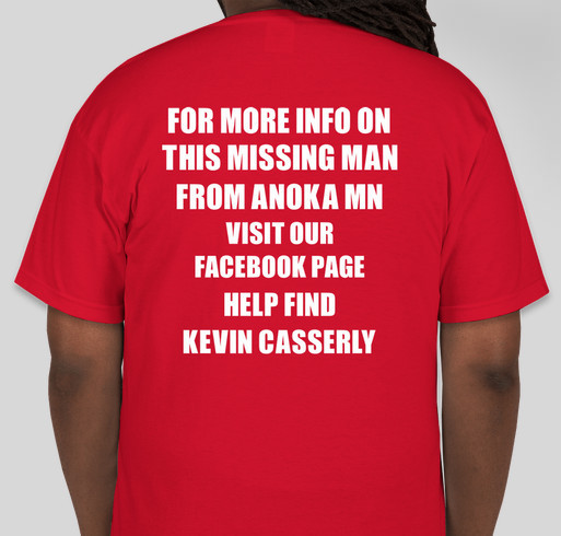MISSING MAN FROM ANOKA MN Fundraiser - unisex shirt design - back