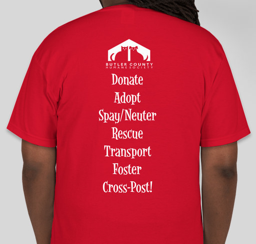 Purchase a Tee for a Purr-fect Cause! It's a Doggone Good One--Animal Welfare! Fundraiser - unisex shirt design - back