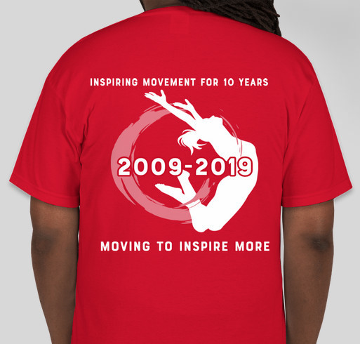 Durango Dance 10th Anniversary - moving into our new building! Fundraiser - unisex shirt design - back