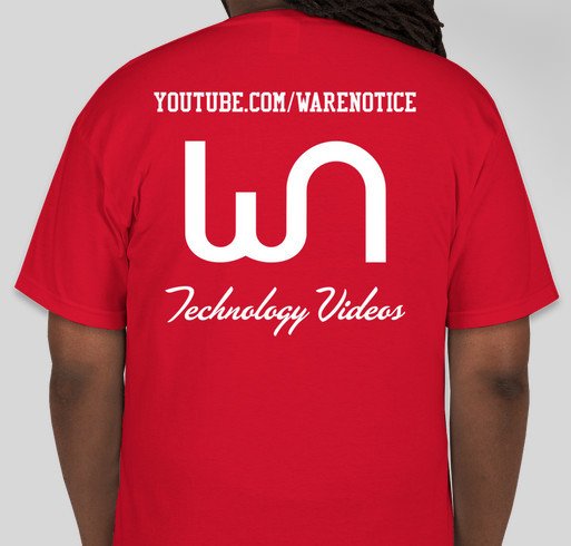 Warenotice's Techy Shirt Fundraiser - unisex shirt design - back