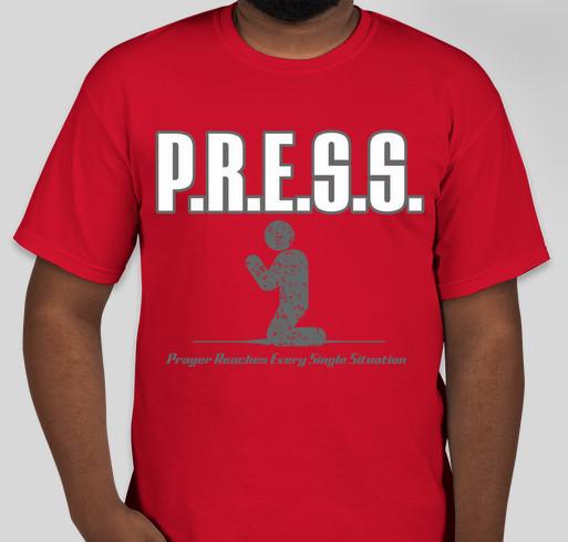 The P.R.E.S.S. Movement Fundraiser - unisex shirt design - front