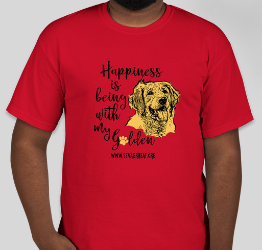 Happiness Is Being With My Golden Fundraiser - unisex shirt design - front