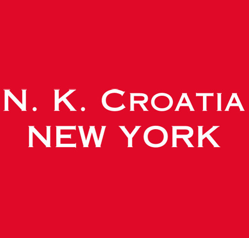 New York Croatia shirt design - zoomed