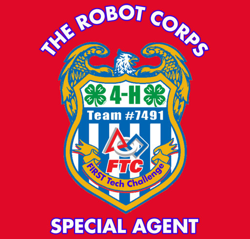 The Robot Corps shirt design - zoomed