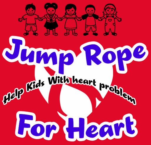 Jump Rope For Heart shirt design - zoomed