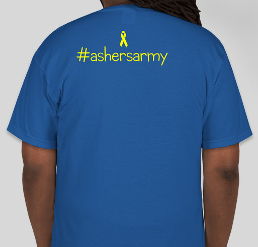 Asher's Army Fundraiser - unisex shirt design - back
