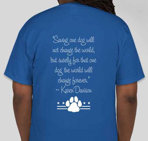 Mutts On Mission Fundraiser - unisex shirt design - back