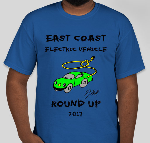 East Coast Electric Vehicle Round Up T-shirt Pre-Sale! Fundraiser - unisex shirt design - front