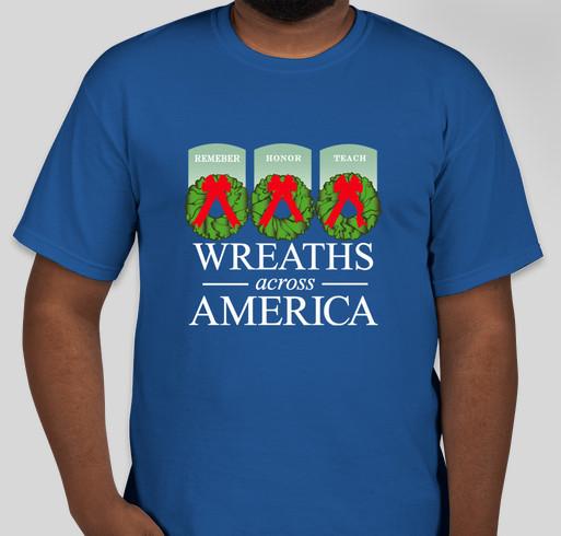 Wreaths Across America Campaign For Arlington's 150th Anniversary Fundraiser - unisex shirt design - front