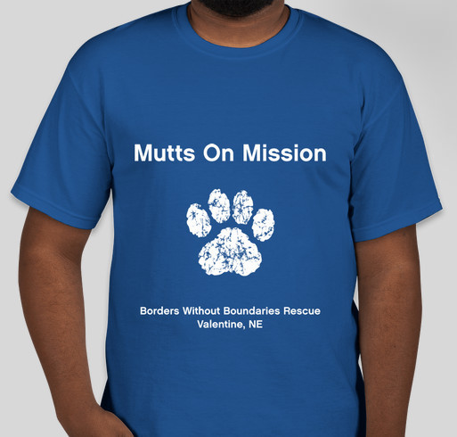 Mutts On Mission Fundraiser - unisex shirt design - front