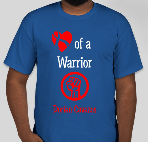 "Dorian ""The Champ"" Cavazos Fundraiser - unisex shirt design - front"