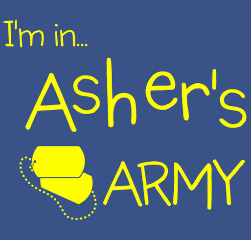 Asher's Army shirt design - zoomed