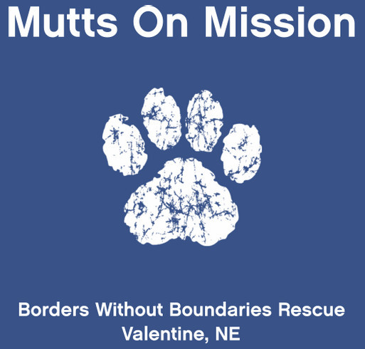 Mutts On Mission shirt design - zoomed