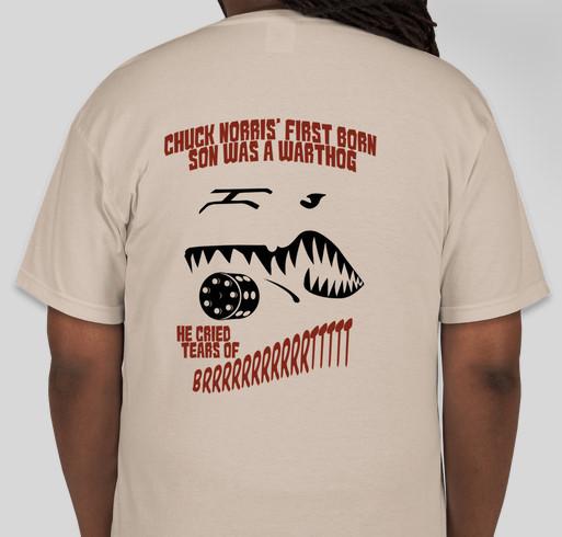 Save the A-10 Fundraiser for Chuck Norris' Charity, KickStart Kids! Fundraiser - unisex shirt design - back