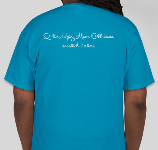 Quilters 'Stitch' Together! Fundraiser - unisex shirt design - back