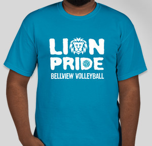lion volleyball - Volleyball T Shirt Design Ideas