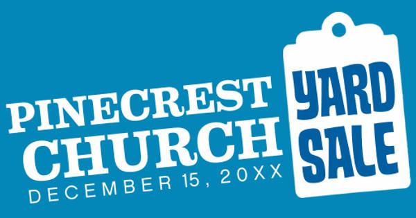 Pinecrest Church Yard Sale
