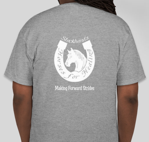 Stockhands Horses for Healing Shirts for Hay Fundraiser - unisex shirt design - back